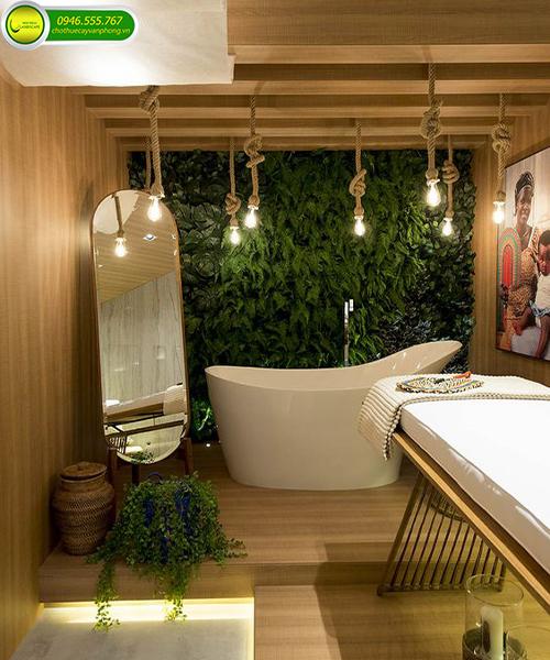 trang trí cây xanh cho spa